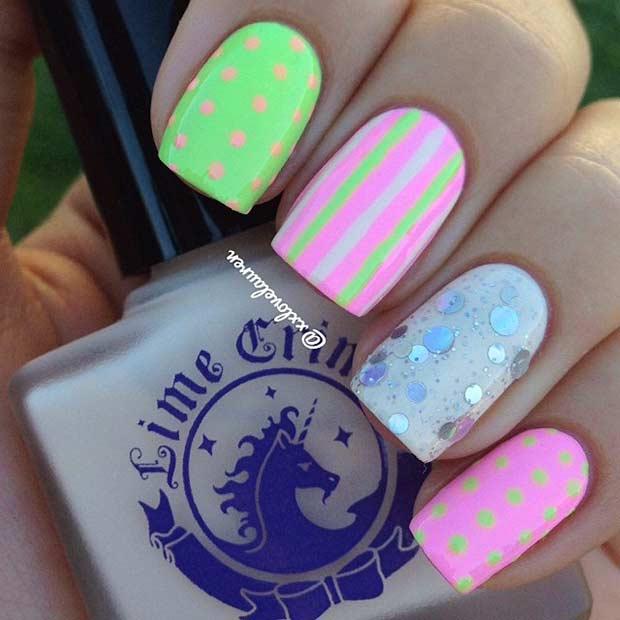 31 Neon Matte Nail Design for Summer