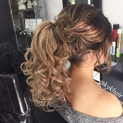 31 easy high pony for curly hair