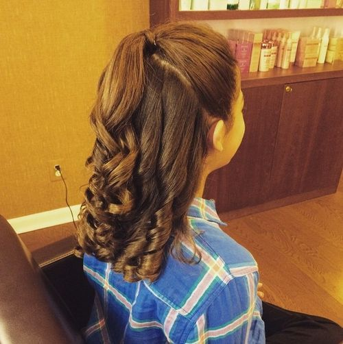 34 brunette prom hairstyle