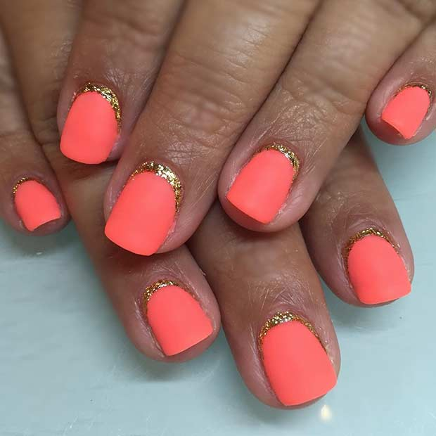 35 Orange Matte Nails for Summer