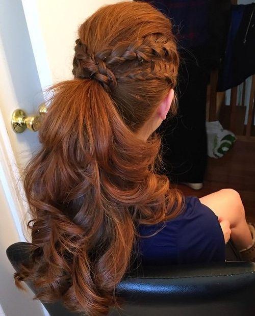 4 double braided wrap around ponytail