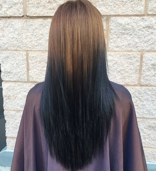4 going dark with light brown to black ombre