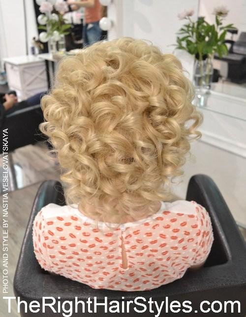 4 vintage curly blonde updo