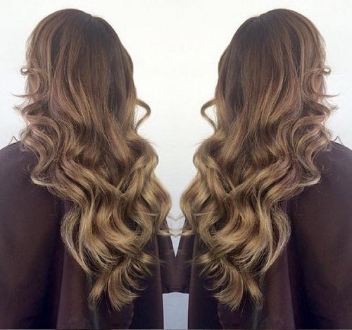 5 long natural brown blonde waves