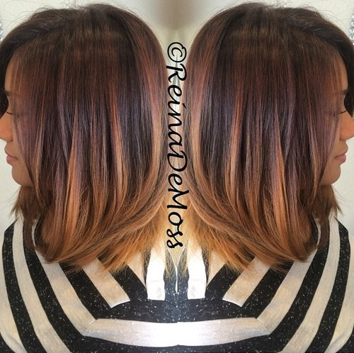 5 shoulder length hair with ombre highlights