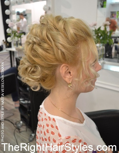 6 curly updo with a bouffant
