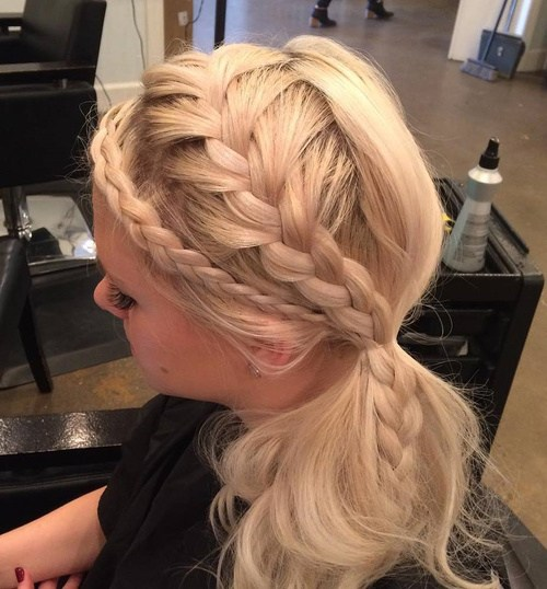 6 two braids and side ponytail hairstyle