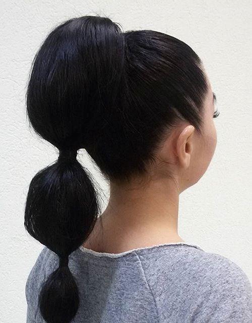 7 bubble ponytail