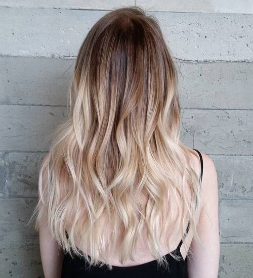 7 light brown to white blonde ombre