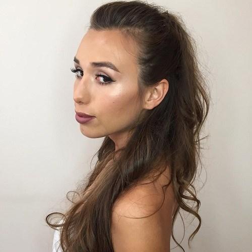 7 simple half up ponytail