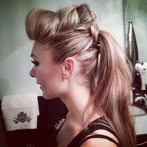 8 fauxhawk ponytail