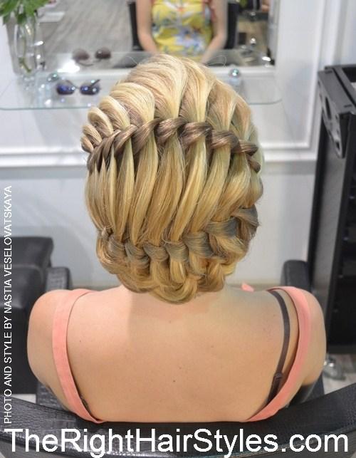 8 formal braided updo for medium hair