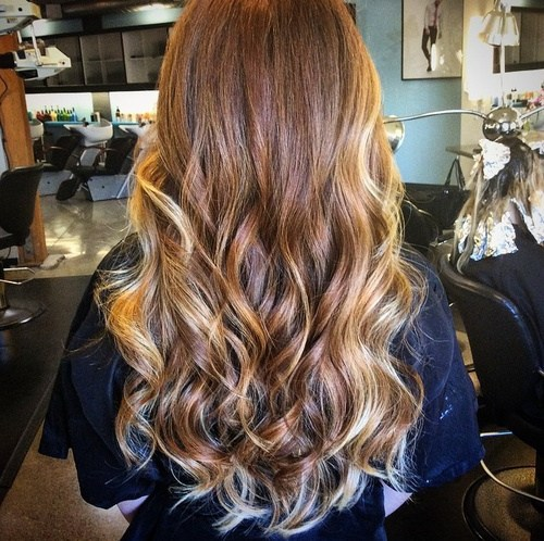8 long hair with face framing ombre