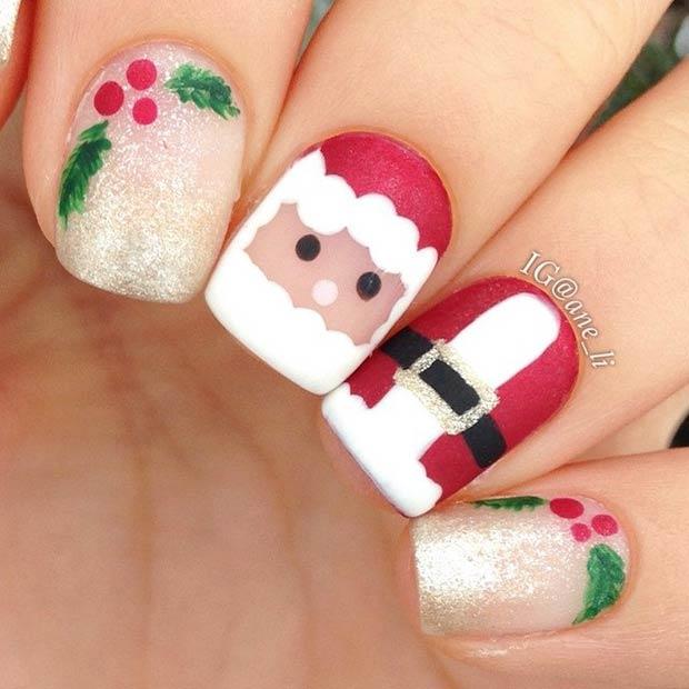 1 Cute Santa Claus Nails