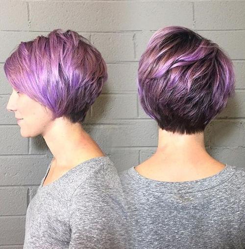 1 layered brown purple pixie