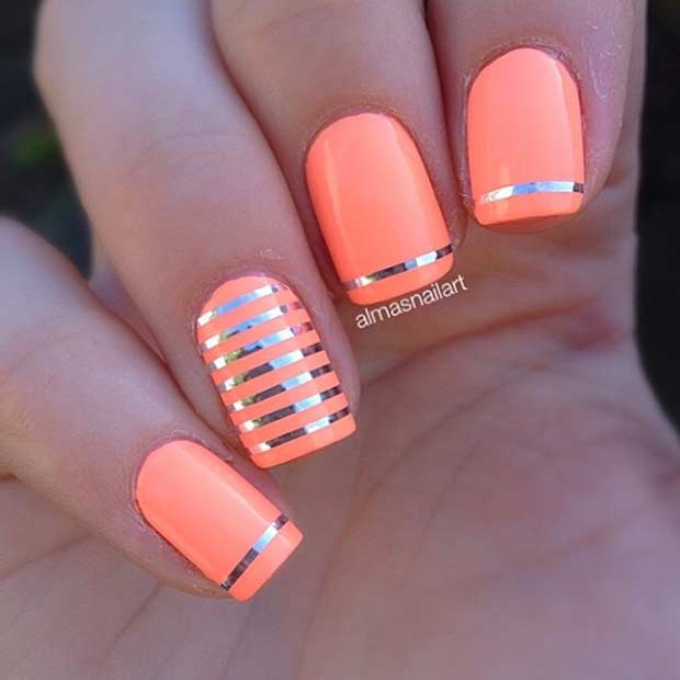 11 Easy Neon Nail Design for Summer - 55 Super Easy Nail Designs – Page 11 – Foliver Blog