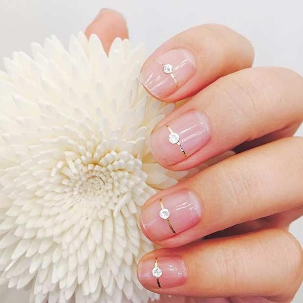 13 Simple Natural Wedding Nails