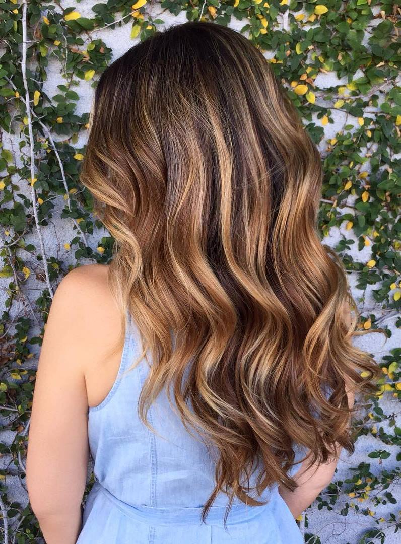 60 balayage hair color ideas with blonde brown caramel - Balayage braun caramel ...