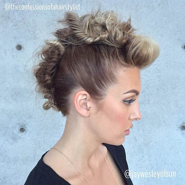 23 Faux Hawk Hairstyles For Women Page 15 Foliver Blog