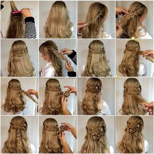 26 Stunning Half Up Down Hairstyles Page 16 Foliver Blog