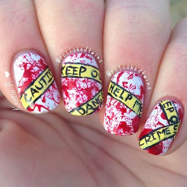 35 Cute And Spooky Nail Art Ideas For Halloween Page 17 Foliver Blog