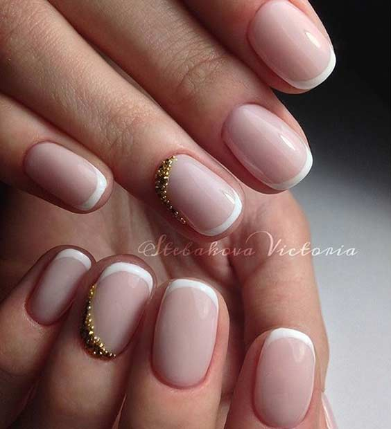 31 cool french tip nail designs page 18 foliver blog 18 elegant white french tip nail design prinsesfo Gallery