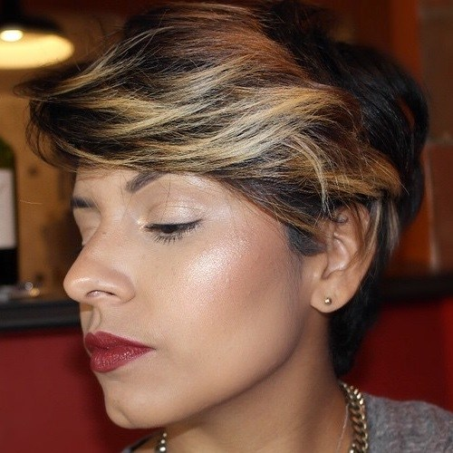 18 long pixie hairstyle with bangs