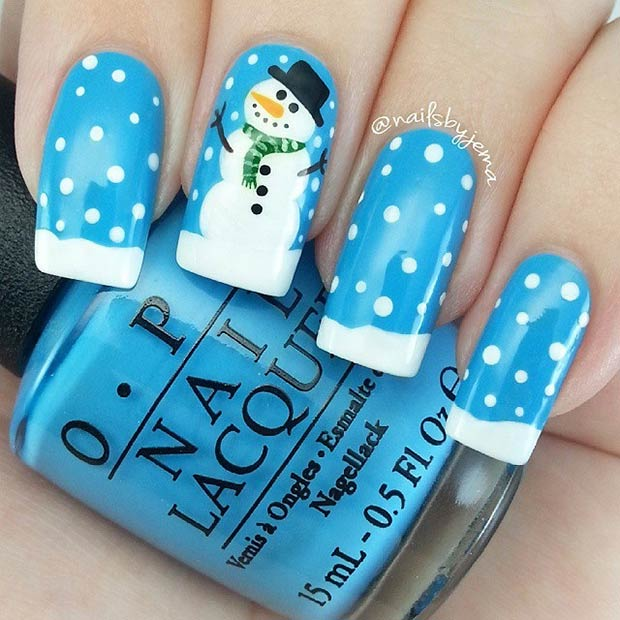 19 Winter Design for Long Nails