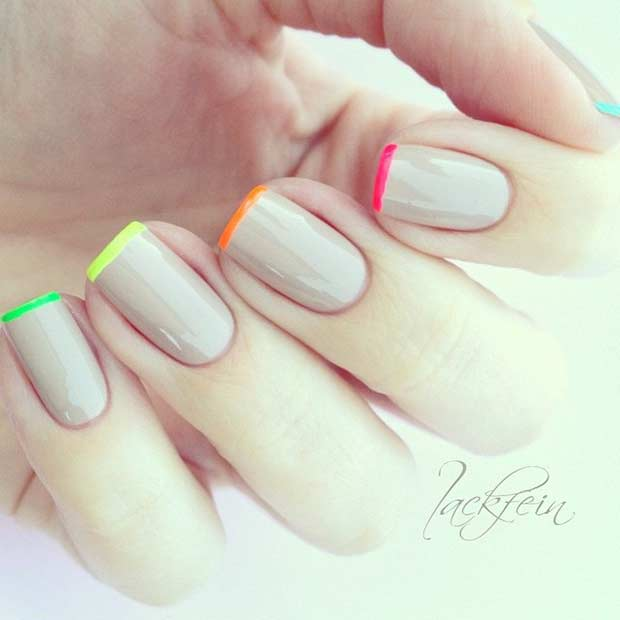 31 Cool French Tip Nail Designs Page 20 Foliver Blog