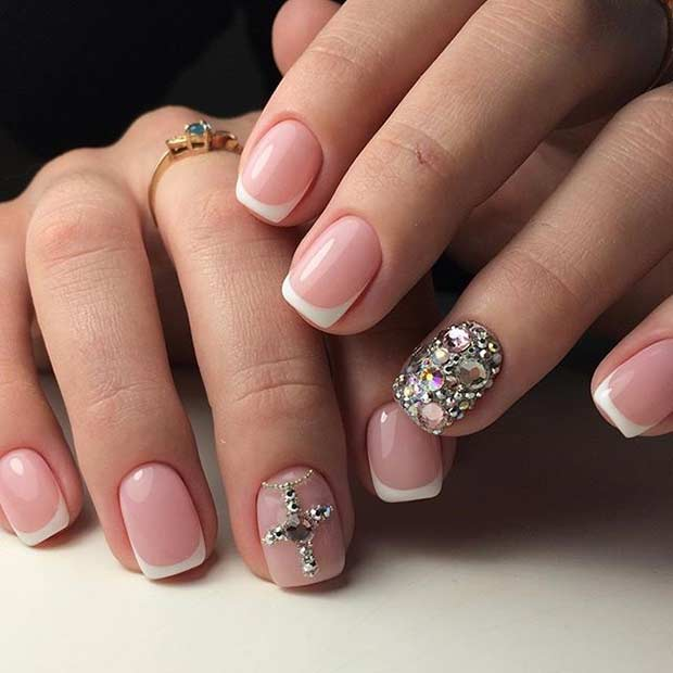 Rhinestone Cross Nail Designs Best Nail Designs 2018