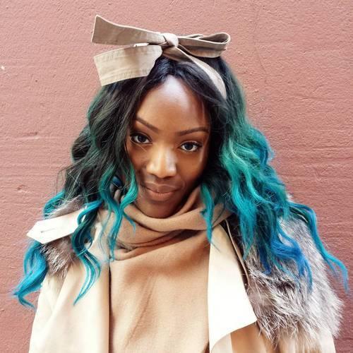 20 blue ombre for black women