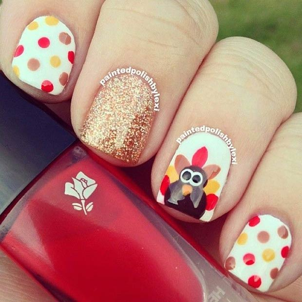 21 Amazing Thanksgiving Nail Art Ideas Page 21 Foliver Blog