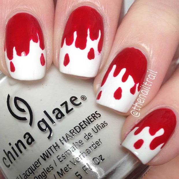 21 Simple Blood Dripping Nails