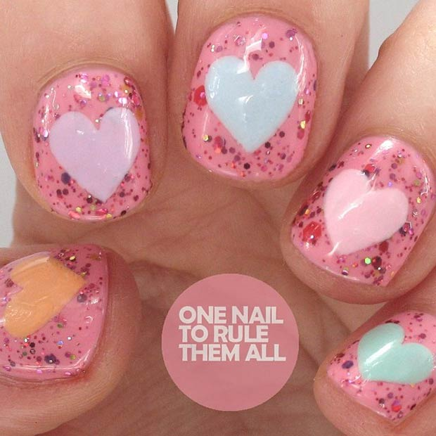 25 Sparkly Nail Manicure for Valentines Day