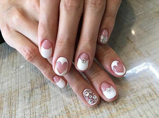 31 elegant wedding nail art designs page 26 foliver blog 26 wedding nail design for short nails prinsesfo Gallery