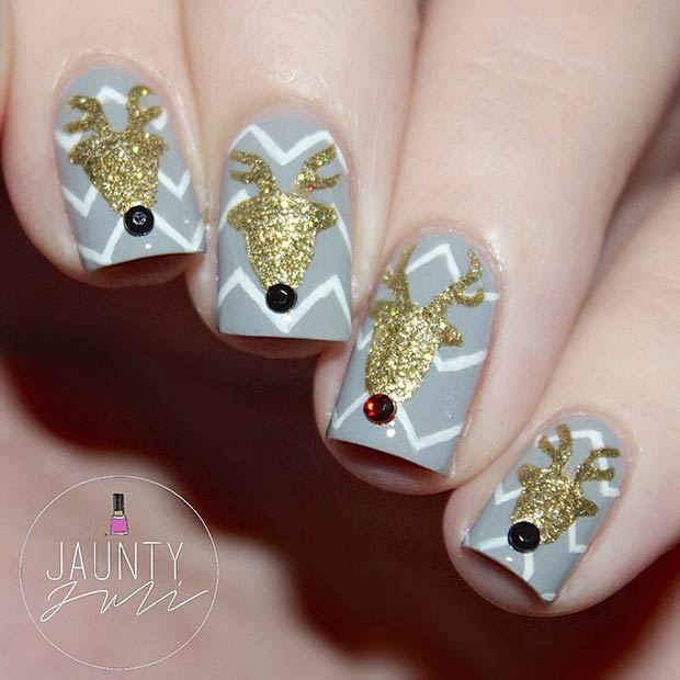 27 Gold Reindeers