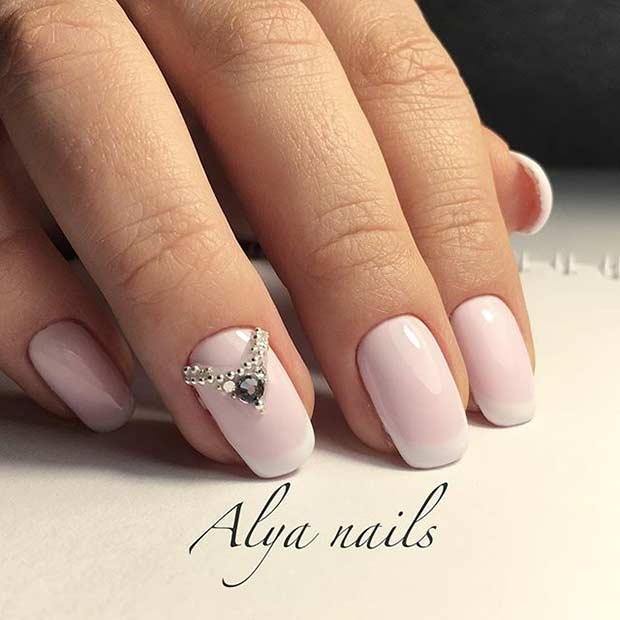 27 Simple Pink Wedding Nails