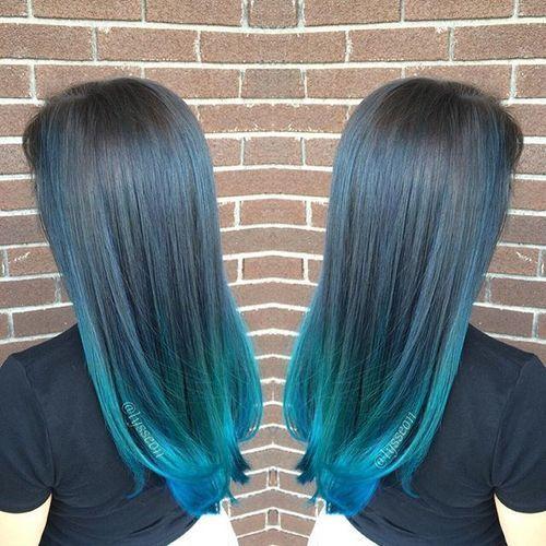 27 long straight blue