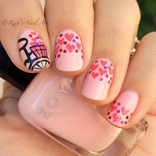 35 Cute Valentines Day Nail Art Designs Page 28 Foliver Blog