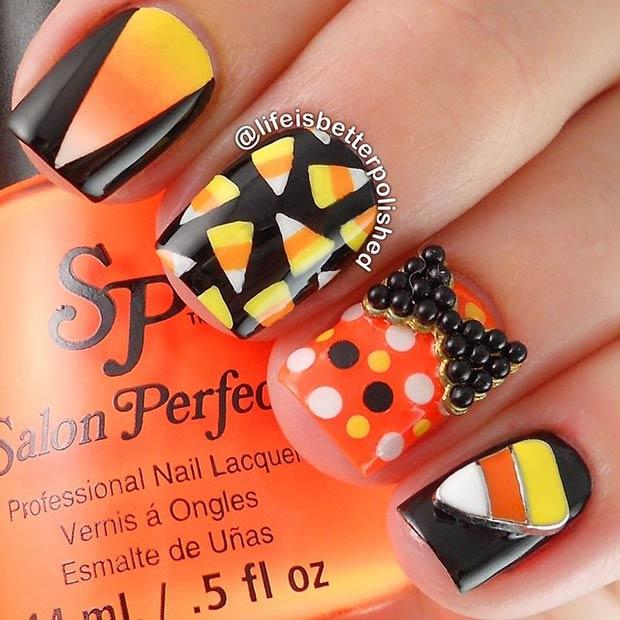 3 Candy Corn Nails