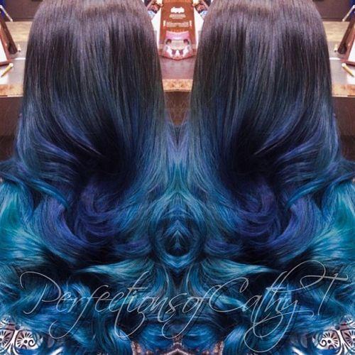 3 dark to light purple to blue