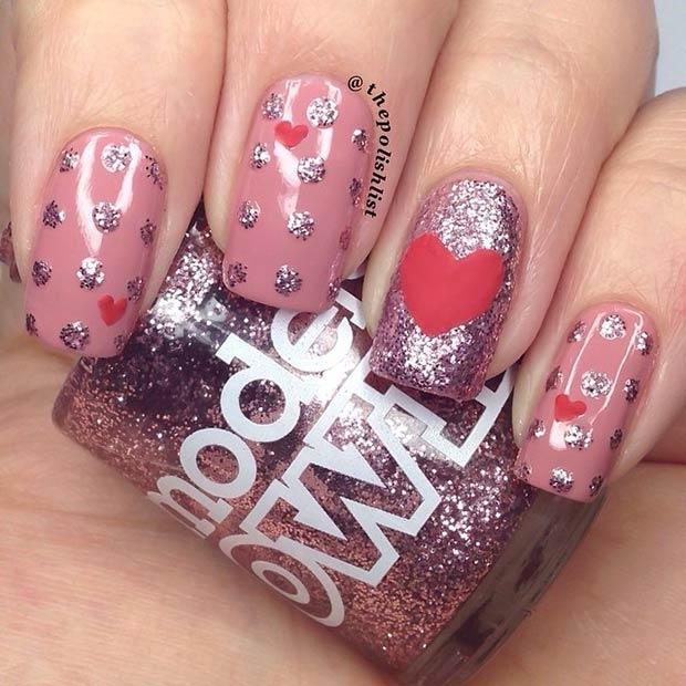 30 Easy Heart Nail Design