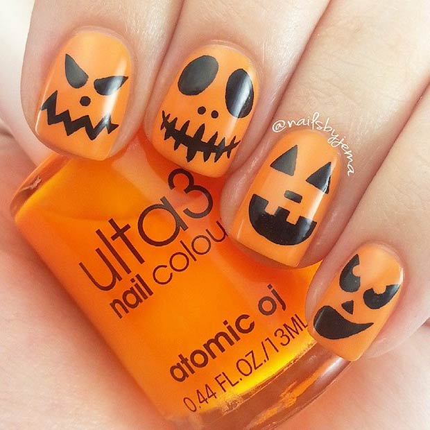 35 Cute and Spooky Nail Art Ideas for Halloween – Page 30 – Foliver blog
