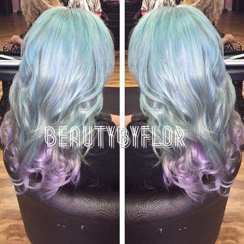 30 silver blue boho ombre hair