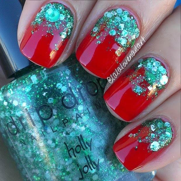 31 Green Glitter Gradient