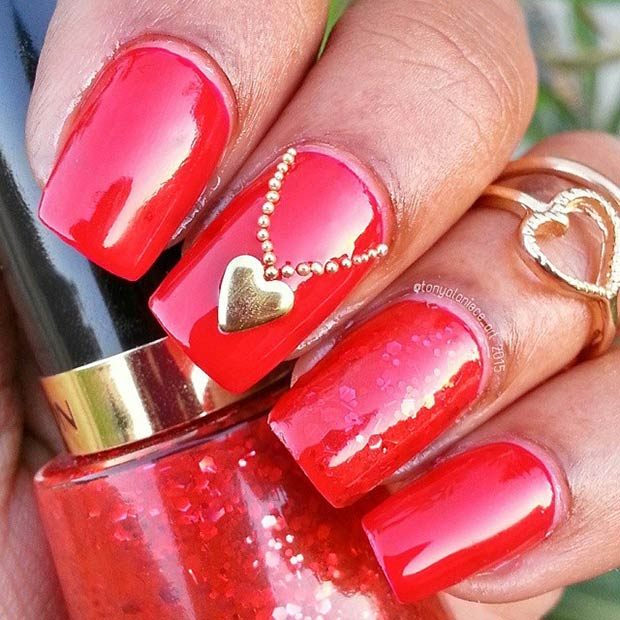 32 Red Valentines Day Nails