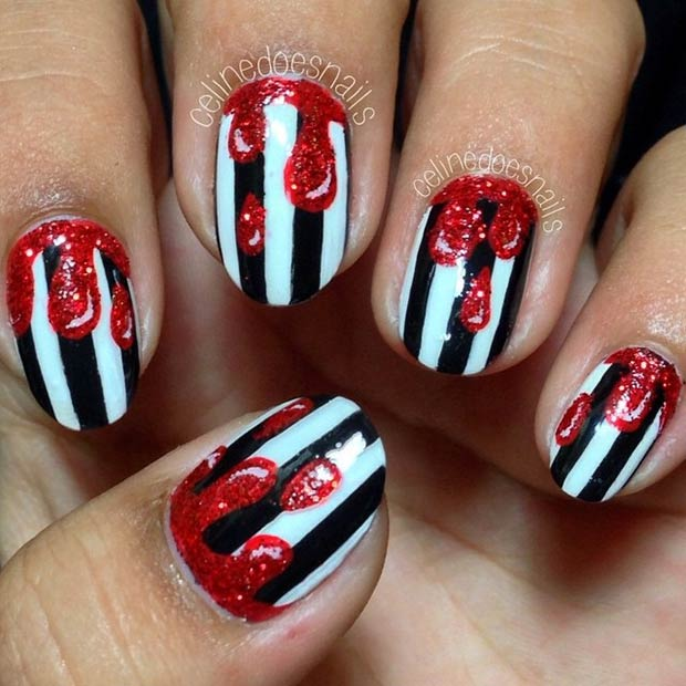 35 Cute And Spooky Nail Art Ideas For Halloween Page 32 Foliver Blog
