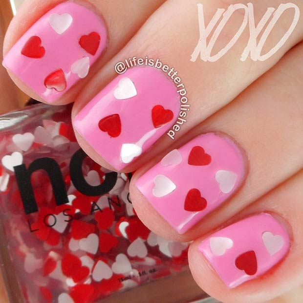 33 Valentines Day Nail Design for Short Nails