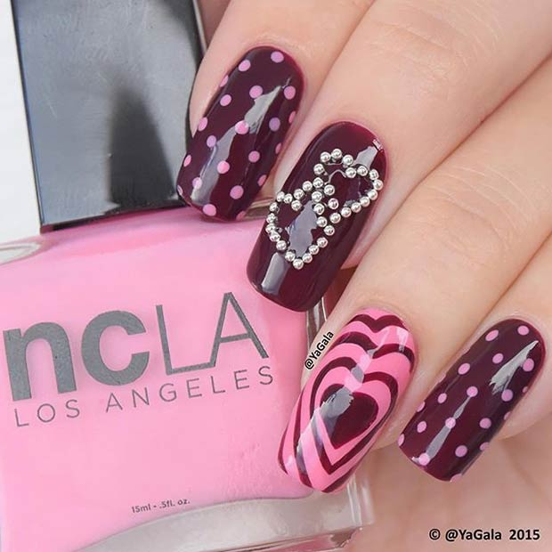 34 Dark Valentines Day Nails