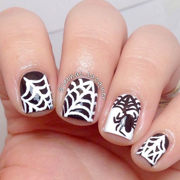 35 Cute And Spooky Nail Art Ideas For Halloween Page 34 Foliver Blog